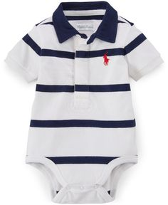 af70aed1 Polo Ralph Lauren Baby Boys' Striped Polo Bodysuit & Reviews - All Baby -  Kids - Macy's