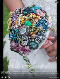 custom brooch bouquet wedding bouquet bridal by TheCrystalFlower
