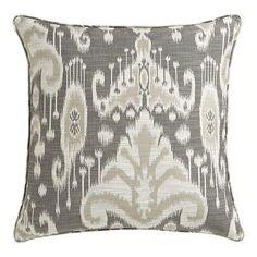 Suzie: Pillows - Taza 23 - gray, ikat, pillow