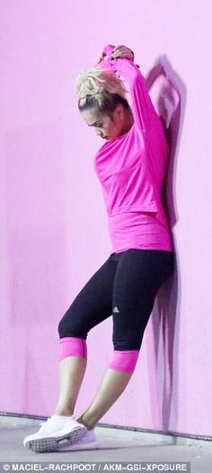 f7cf4c7bc80f9 Rita Ora works up a sweat wearing daring gym wear at Adidas shoot in West  Hollywood