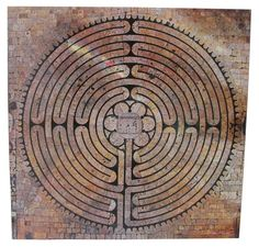 The Labyrinth at Chartres Cathedral.  Chartres, France.  The labyrinth as a pilgrimage path - in the image of our life that could not be without reason or goals.