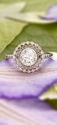 Photo: A gorgeous antique halo ring. Categories: Wedding Fashion Added: Tags: A,gorgeous,antique,halo,ring. Resolutions: Description: This photo is about A gorgeous antique halo ring…. Bling Bling, Vintage Rings, Vintage Jewelry, Antique Wedding Rings, Antique Engagement Rings, Antique Rings, Vintage Inspired Engagement Rings, Unique Vintage, Brillant Earth Engagement Rings