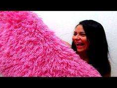 Diy anti-slip shaggy rug - YouTube
