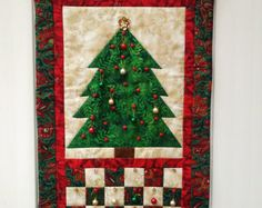 patterns for fabric pieced advent calendar christmas tree - Google Search