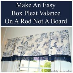 Box Pleat Valance by Exquisitely Unremarkable - Crafts Diy Home No Sew Valance, Valance Tutorial, Box Pleat Valance, No Sew Curtains, Pleated Curtains, How To Make Curtains, Rod Pocket Curtains, Box Pleats, Valance Curtains