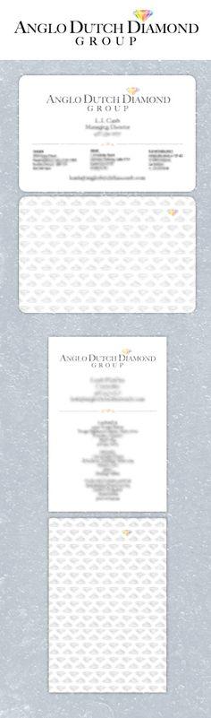 Anglo Dutch Diamond Group Logo and Business card design by Fusion Studios Inc. Business Card Design, Business Cards, Logo Creation, Corporate Identity, Dutch, Toronto, Studios, Logo Design, Branding