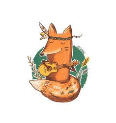 Сообщество иллюстраторов | Иллюстрация Лиска-укулелистка.