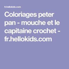 Coloriages peter pan - mouche et le capitaine crochet - fr.hellokids.com
