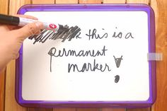 How to Remove Permanent Marker from a White Board: 6 steps-use a dry erase marker and go over the permanent marker, and then quickly erase.  I've done this, it works, and I've saved the cost of replacing whiteboards that cost almost a thousand dollars.