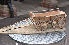 This superb model of a Yellowstone Coach was built by Dale Ford of Redding. Wooden Wagon, Wooden Wheel, Matchstick Craft, Bullock Cart, Horse Accessories, Covered Wagon, Wagon Wheel, Horse Drawn, Wheelbarrow