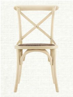 Cadence Dining Side Chair With Woven Seat In Cream