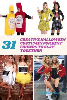 Halloween parties are much more fun if you pull off a duo with your best friend or favorite group of friends, so why not do that instead of coming up with something on your own?!