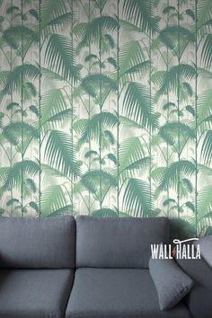 papier peint intiss feuille de palme vert leroy merlin tendance tropical jungle. Black Bedroom Furniture Sets. Home Design Ideas