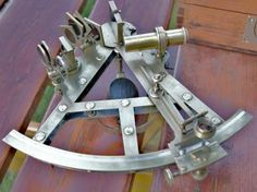 Antique sextant double frame Signed by Rogerson Liverpool 1820