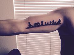 Hobbit tattoo! (Actually this is the fellowship but still awesome!)