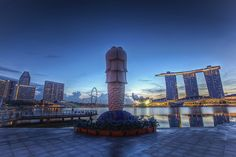 Today at #Forethought : Merlion at sunrise - #Singapore. Photo was captured by Forethought colleague Michael Sankey.