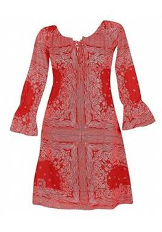 Plus Size Red Revival Dress image