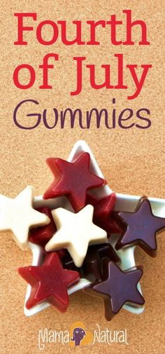 The 4th of July! A time for family, parades, fireworks, BBQs, and lots of sugary sweets, right? Not at my house! Instead, I'm making these awesome gummy stars!
