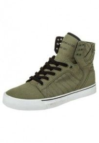 Supra SKYTOP Tenisówki i Trampki wysokie oliwka Supra Skytop, High Tops, High Top Sneakers, Shoes, Shopping, Fashion, Moda, Zapatos, Shoes Outlet