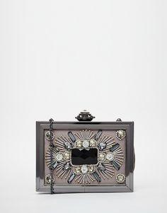 ALDO Embellished Box Clutch