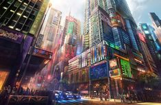 Currently living in London, this Belgium concept artist Jonas De Ro has envisioned beautiful cityscapes as part of his personal art collection, and also commissioned work for the film and gaming industries. He uses tools and software like Photoshop, Cinema 4D, Wacom Intuos and ZBrush to create these detailed scenes with contrasting colors and natural.... http://illusion.scene360.com/art/53802/in-the-heart-of-the-neon-manga-city/