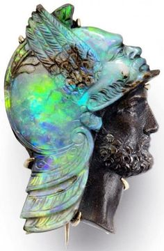 Carved opal cameo of Mercury, probably by William Schmitt