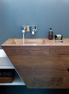 Modern Bathroom Sink From Wood Wood Sink, Wood Vanity, Wood Wood, Beautiful Bathrooms, Modern Bathroom, Cozy Bathroom, Knysna, Blog Deco, Deco Design
