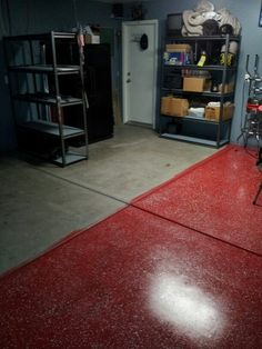 Behr 1 part epoxy garage floor paint with metallic flakes from the i added the blackgrayglitter to the floor and then clear coated it solutioingenieria Choice Image