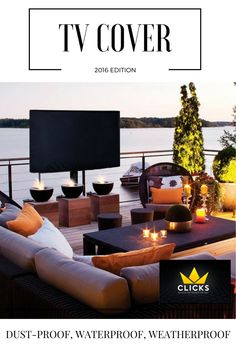 Elegant Outdoor TV Cover with FREE Microfiber Cloth. Guaranteed to Last.  Check it out in Amazon!