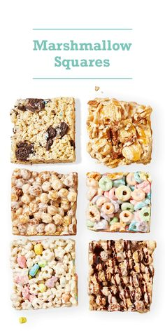 Classic marshmallow squares get a fun new makeover with our 3 easy ideas. Reinvent the ooey, gooey, ready-in-5-minutes snack by using a different cereal, mixing in sweet treats or drizzling a dreamy glaze on top.