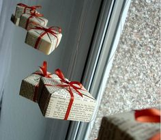 DIY Bow Box Ornaments - So cute and easy to make!