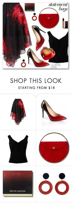 """""""Arm Candy: Statement Bags"""" by jecakns ❤ liked on Polyvore featuring ADAM, Charlotte Olympia, MANGO and Kevyn Aucoin"""