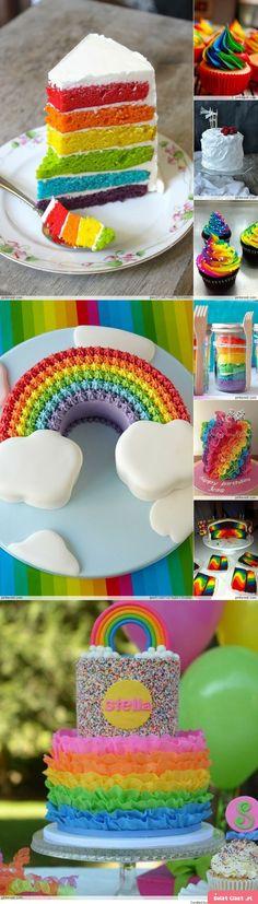 Rainbow cake - Swiatciast.pl