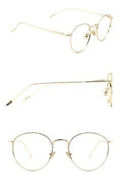 7ae4667c4555 TIJN Women Full Rim Round Metal Circle Eyeglasses Thin Frame