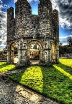 Old Mellifont Abbey - 12th century, County Louth, Ireland .