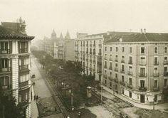 Año de 1930. Calle Velázquez esquina a la calle Goya.