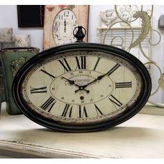 Retro Zegar Owal Belldeco - owalny zegar w stylu prowansalskim.