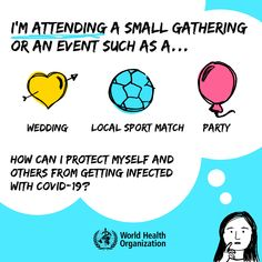 Are you attending a small gathering or event during #COVID19? Swipe 👉 to learn how you can protect yourself & others from getting infected with COVID-19! Health Advice, Health And Wellness, International Health, Invitation Wording, Gender Reveal, How To Stay Healthy, Event Planning, First Love, Medical