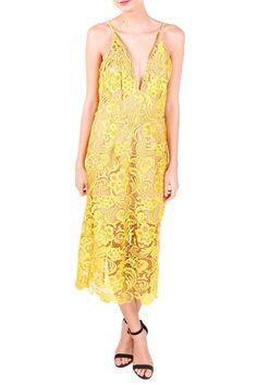 'Marie' Lace Midi Dress - Dress the Population