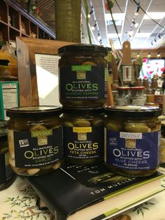 Divina all natural stuffed olives. Great for martinis, antipasto, or just for a light snack!