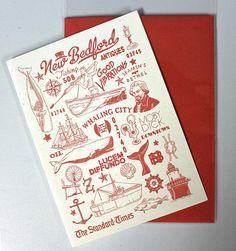 New Bedford Massachusetts City Greeting Card