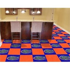 University of Florida Gators Carpet Tiles Flooring - ok. so it's obnoxious. but I love it!