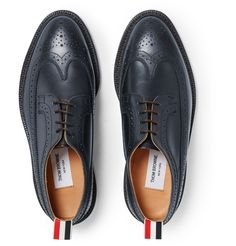THOM BROWNE Longwing Leather Wingtip Brogues