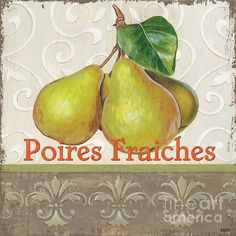 Poires fraîches