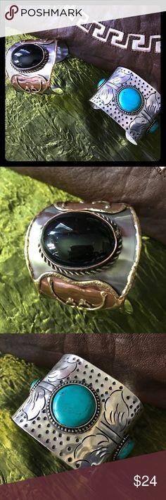 sᴛᴇʀʟɪɴɢ ᴏɴʏx ᴄᴜғғ Christmas 🎄 Gift 🎁  ɢᴇɴᴜɪɴᴇ ᴏɴʏx Beautifully handcrafted ᴄᴜғғ Imported from INDIA✨ᴛʜɪs ᴄᴜғғ ɪs ᴀ Summer Staple for Sure! ✨Statement CUFF✨ Jewelry Bracelets