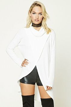 Turtleneck Split Top