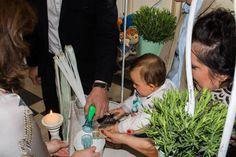 Rituel du sable entre parrain, marraine et le bébé : Cérémonie du BABY DAY