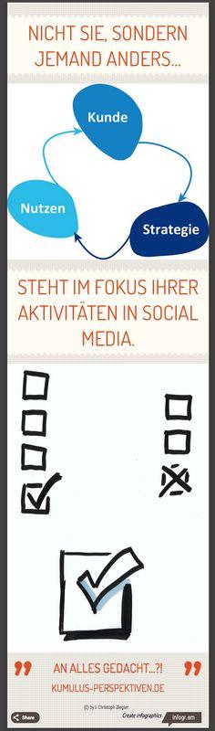 Warum nicht du, sondern jemand anders im Fokus deiner #SocialMedia-Aktivität steht.