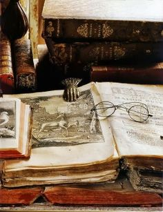 Early Illustrated Antiquarian Books | Content in a Cottage. absolutely beautiful.  how many hands have turned those pages in all the years?