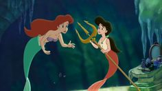The Little Mermaid 2: Return to the Sea....Ariel and her daughter Melody.